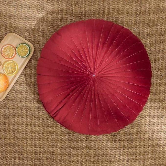 Shumo Coussin en Forme de Citrouille de Style Nordique Jaune Coussin de Si/èGe D/éCoratif Coussin Rond en Velours pour Coussin
