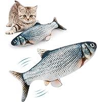 Bangcool Kattmynta fisk leksaker, katt tuggleksaker, katt fiskkudde, katt kattkattmynta leksaker, interaktiva plysch…