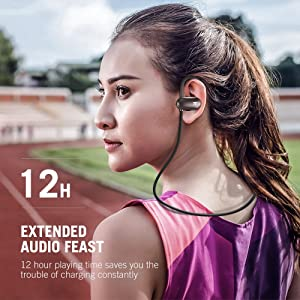 TaoTronics Bluetooth Kopfhörer 4.1 In Ear Kopfhörer bis zu 12 Stunden Spielzeit