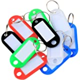 Key Tags - Colour Coded - Plastic Key Tags - with Paper Label Inserts - Split Rings - by TRIXES