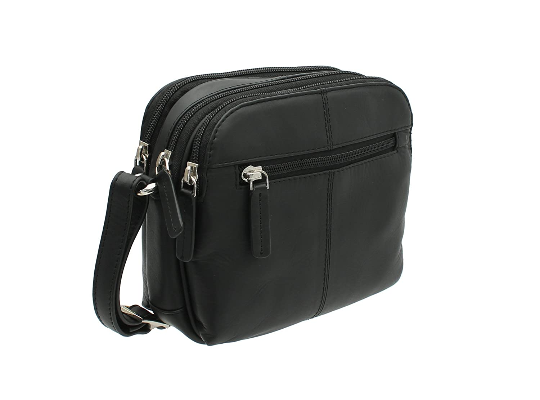 2a1d99e7382b Visconti Leather Small Shoulder Bag Style 18939 Black  Amazon.co.uk  Luggage
