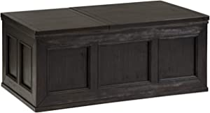 Signature Design by Ashley Gavelston Lift Top Cocktail Table Rubbed Black