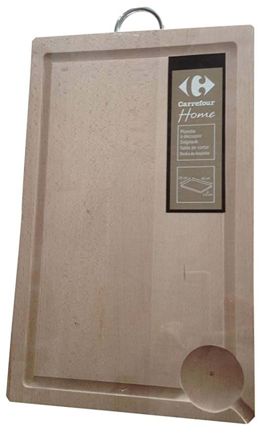 Carrefour Home 7102 Madera Madera tabla de cocina para cortar - Tabla de cortar (Productos