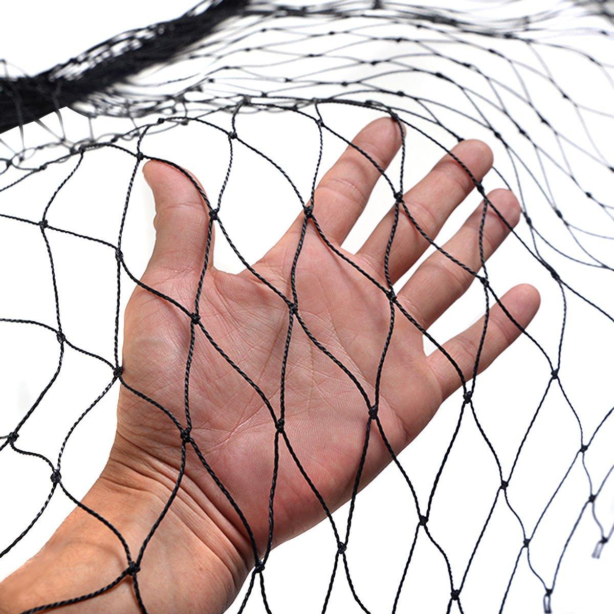 Anti Bird Netting 25'X50' Soccer Baseball Game Poultry Fish Net 2''x2'' Mesh