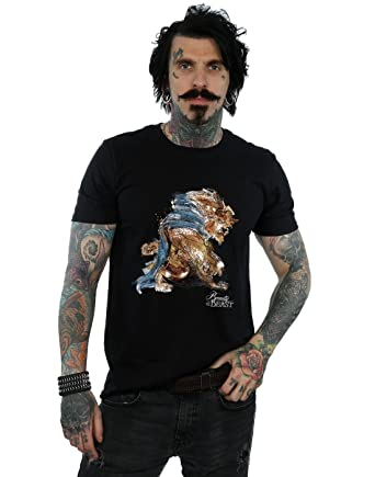 Amazon Com Disney Men S Beauty And The Beast Beast Sketch T Shirt