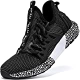 JMFCHI Boys Girls Kids' Sneakers Knitted Mesh Sports Shoes Breathable Lightweight Running Shoes for Kids Fashion Athletic Cas