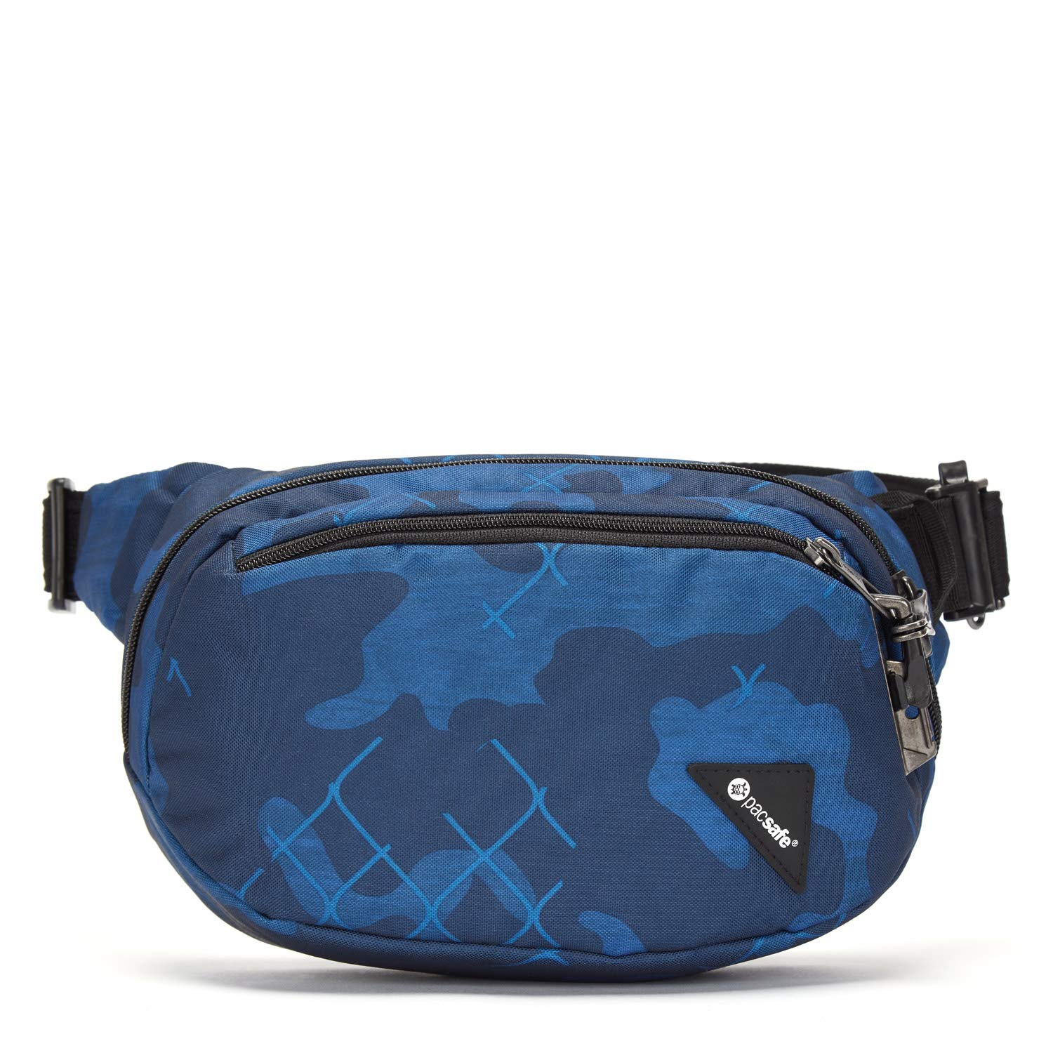 Pacsafe Vibe 100 4 Liter Anti Theft Fanny Pack-Fits 7 inch Tablet Luggage- Messenger Bag, Blue Camo,