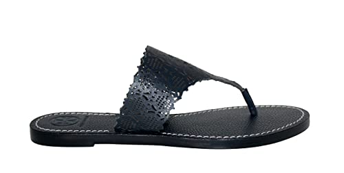 cdf31d13a9c3a Image Unavailable. Image not available for. Color  Tory Burch Roselle  Cutout Thong Sandals Leather Shoes (6.5)