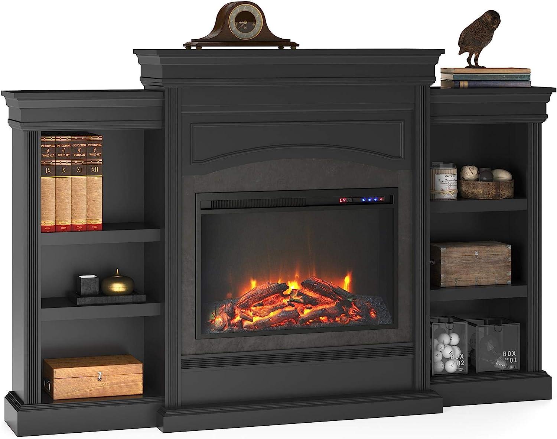 Ameriwood Home Lamont Mantel Fireplace, Black