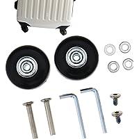 Vervangende wielen met assen voor koffer, van rubber, metaal, 2-4 stuks, buitendiameter 45 mm