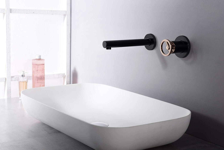 Grifo lavabo empotrado Imex Olimpo Negro Oro Rosa GLC033-NOR