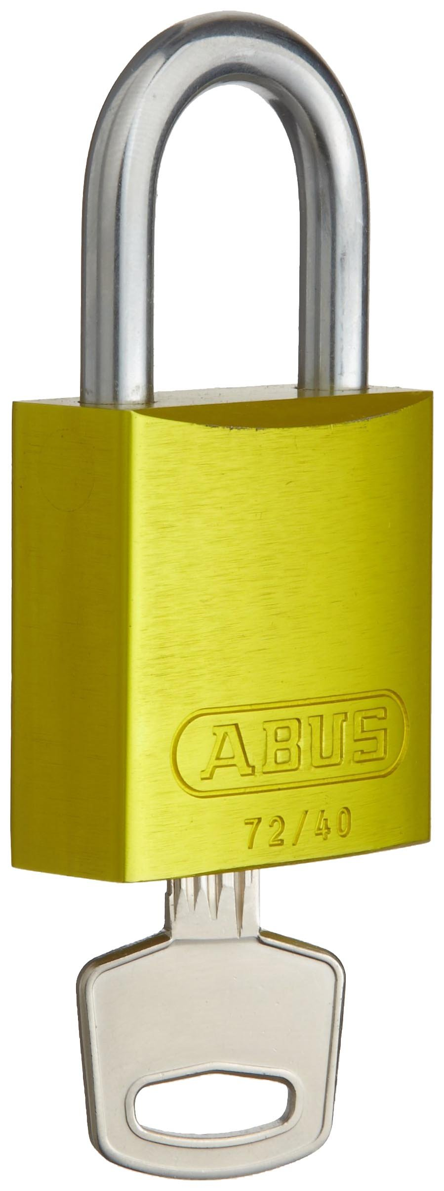 Brady Aluminum Lockout/Tagout Padlock, Keyed Different, 1-3/5'' Body Length, 1'' Shackle Clearance, Yellow (Pack of 1)
