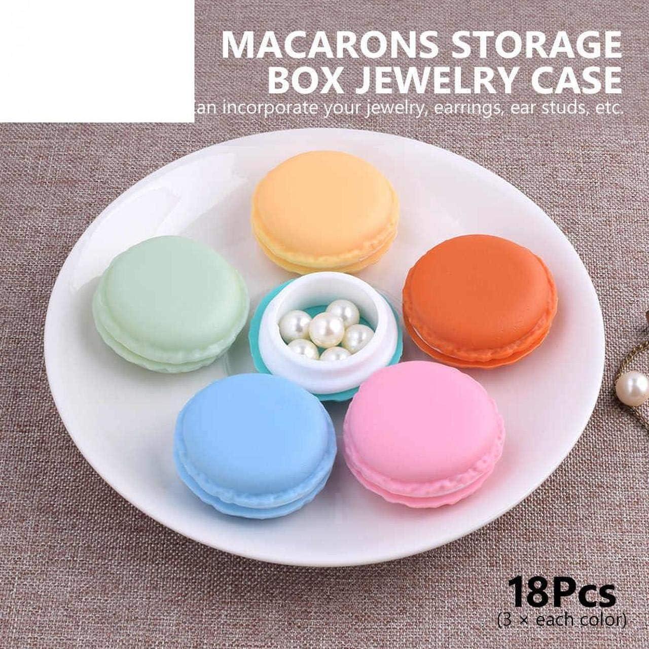 HomeSto 18 Piezas Estilo Creativo Novel Candy Color Macarons Caja Expositor de Joyas Cajas Pendientes Outing Storage Cases 6 Organizadores: Amazon.es: Hogar