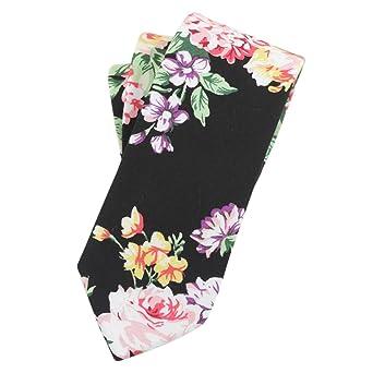 CityRaider Corbata de algodón con estampado floral para hombre ...