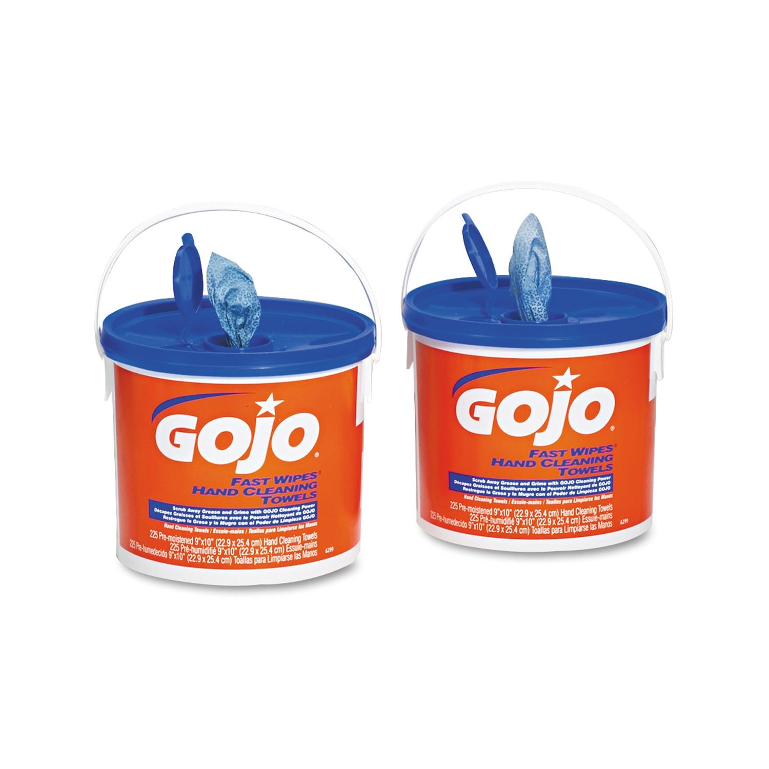 Amazon.com: GOJO - FAST WIPES Hand Cleaning Towels, 9 x 10, White, 225/Bucket - 2 Buckets/Carton: Sports & Outdoors