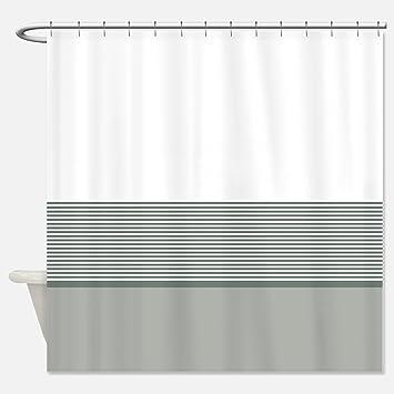 Hochwertig Yeho Art Malerei Stoff Vorhang Für Die Dusche: Nautischen Streifen Design  (Blaugrün Grau Und