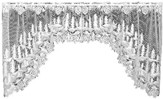 product image for Heritage Lace Pinecone 70-Inch Wide by 38-Inch Drop Swag Pair, White