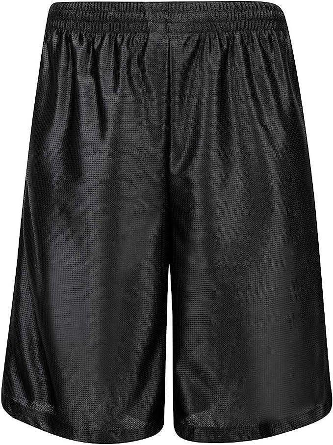 Mens Athletic Jersey 2 Pocket Mesh Shorts Gym Workout Basketball Fitness Fashion
