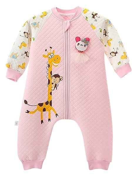 Happy Cherry Saco de Dormir de Mangas Largas Pijama de Dibujos Animados Bolsa de Dormir Mono Sleeping Bag para Bebés Niños Niñas Talla XL 92CM: Amazon.es: ...