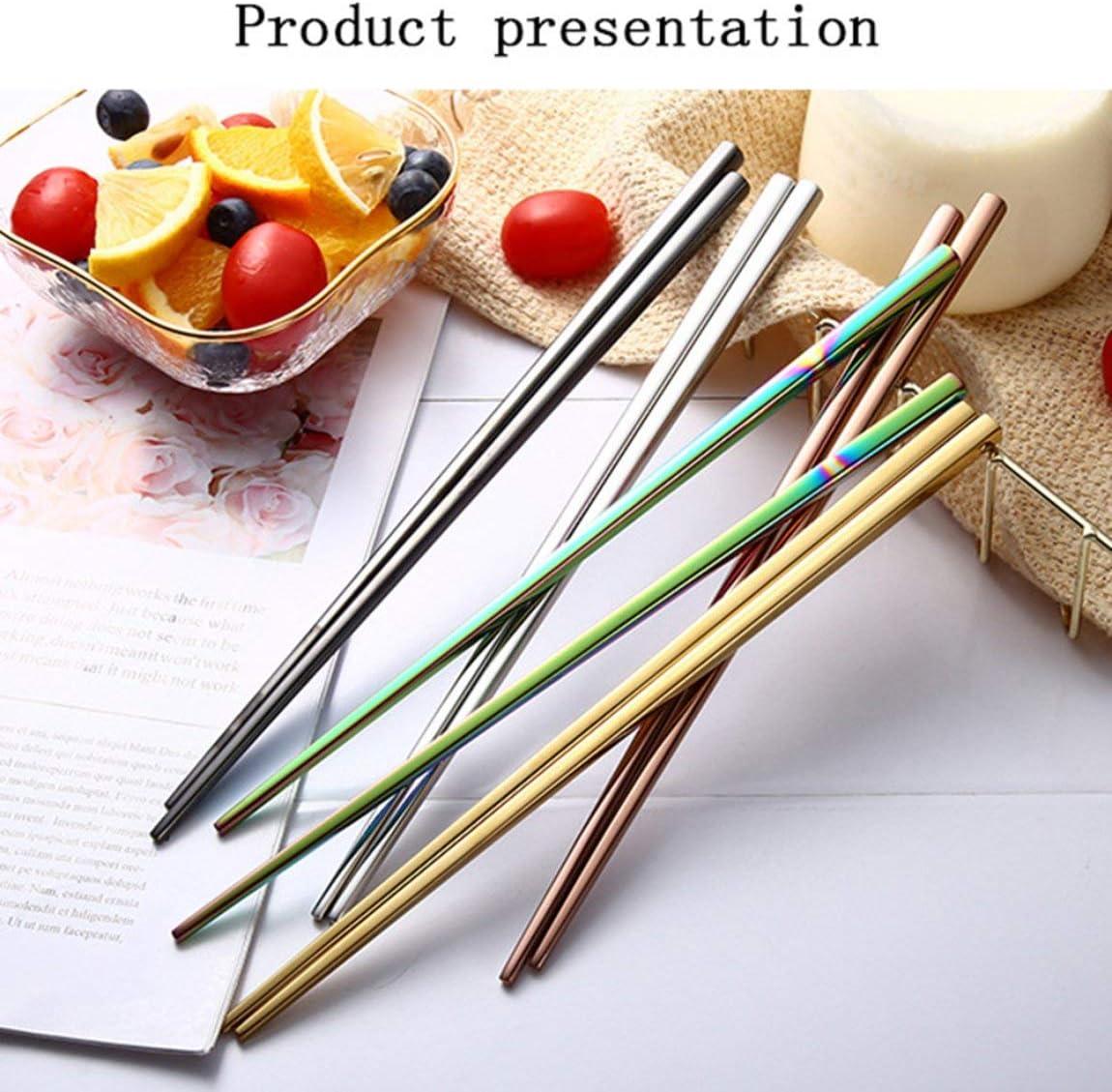 Silber Chinesische Art-rutschfeste K/üchen-Werkzeug-Geschirr-Essst/äbchen-Edelstahl-Haushalts-Kocher traditionell