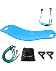 Balance Board with 4 Resistance Bands | Sportneer Wobble Board Set for Stability Training, Physical Therapy, Toning Workout, Fitness