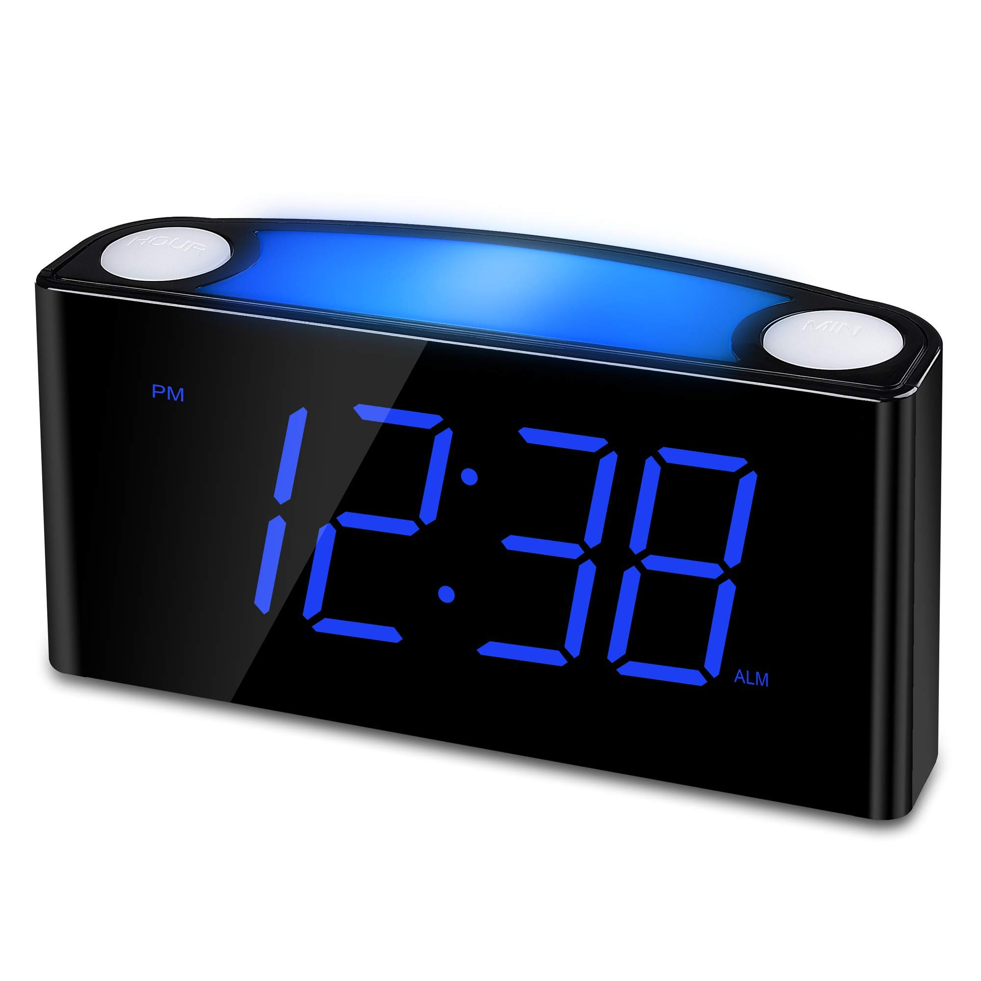 Nice alarm clock with cool blue numbers