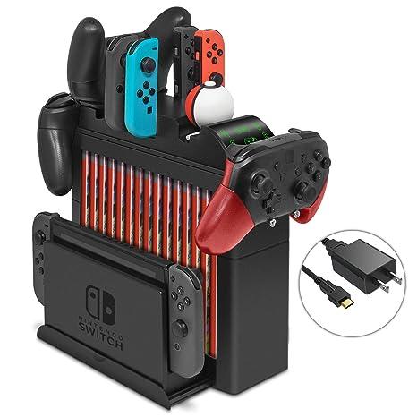 Amazon.com: Base de carga para Nintendo Switch Joy-Cons ...