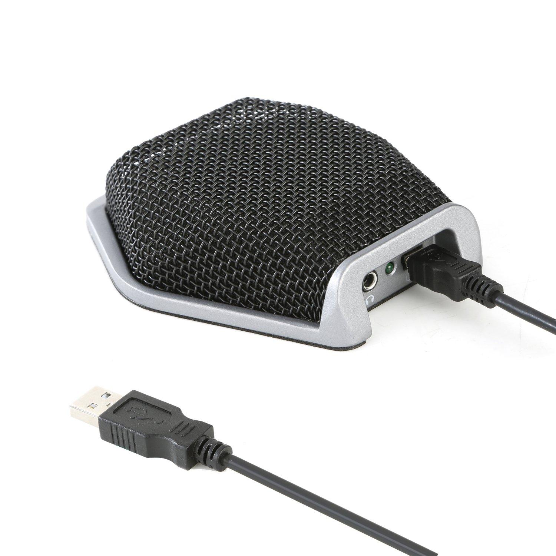 Micrófono de conferencia, micrófono de reunión USB portátil, Mouriv 360 ° / 78.7 'de largo alcance Rango de sobremesa Mi