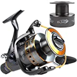 Dr.Fish Hercules-II Baitfeeder Spinning Reel Saltwater Freshwater Fishing Reel 3000-6000 Spare Spool Max 30Lb Carbon Fiber Drag Live Liner Front Rear Drag