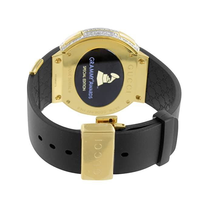 3d2e2c28ae6 i Gucci YA114215 Diamond Watch Gold Finish Grammy Awards Edition Digital Men  New  Amazon.ca  Watches