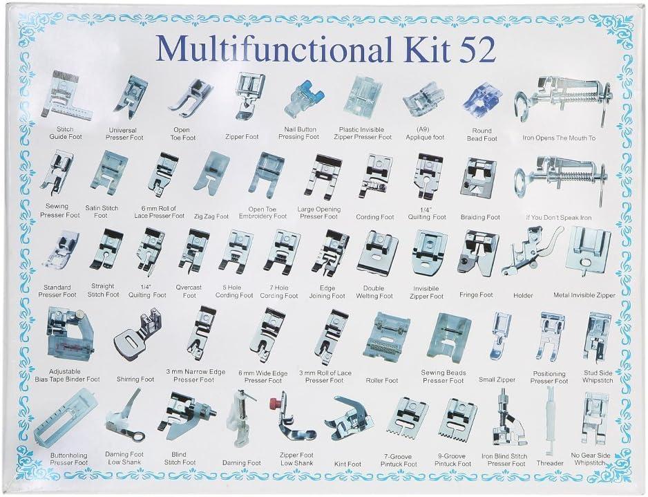 icase4u/® Kit de 11 Piezas Multifuncional Prensatelas Accesorios para M/áquina de Coser Presser Foot Feet Kit Machines Set /…