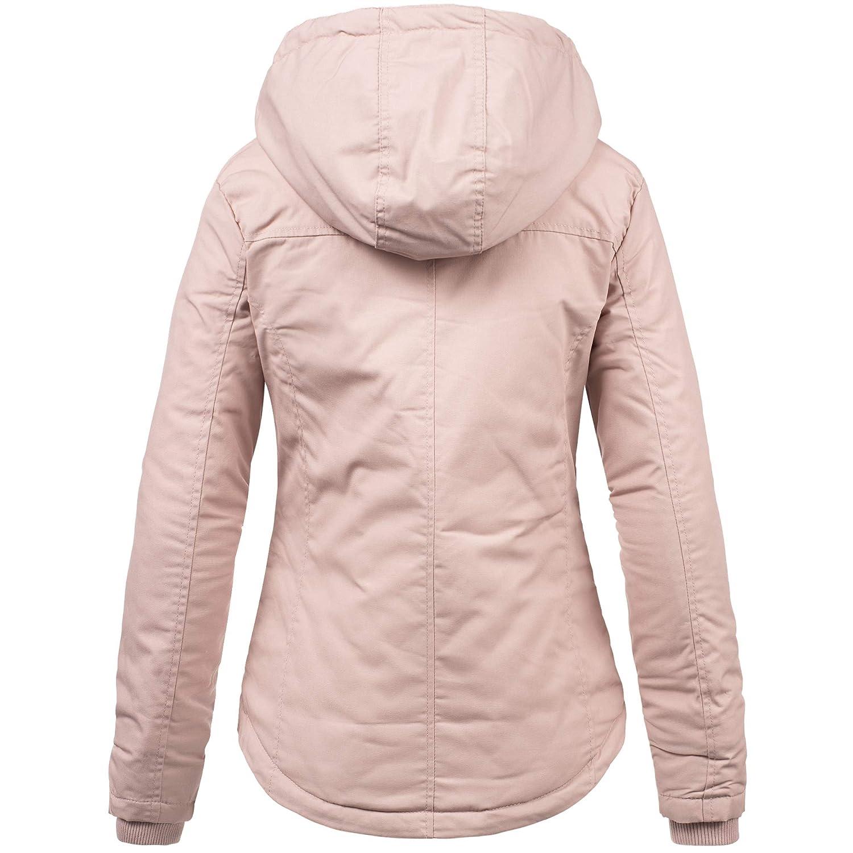 Sublevel Femme Fille Veste d'hiver Chaud Veste/Blouson Outdoor avec Capuche XS S M L XL Léger Greyish Rose