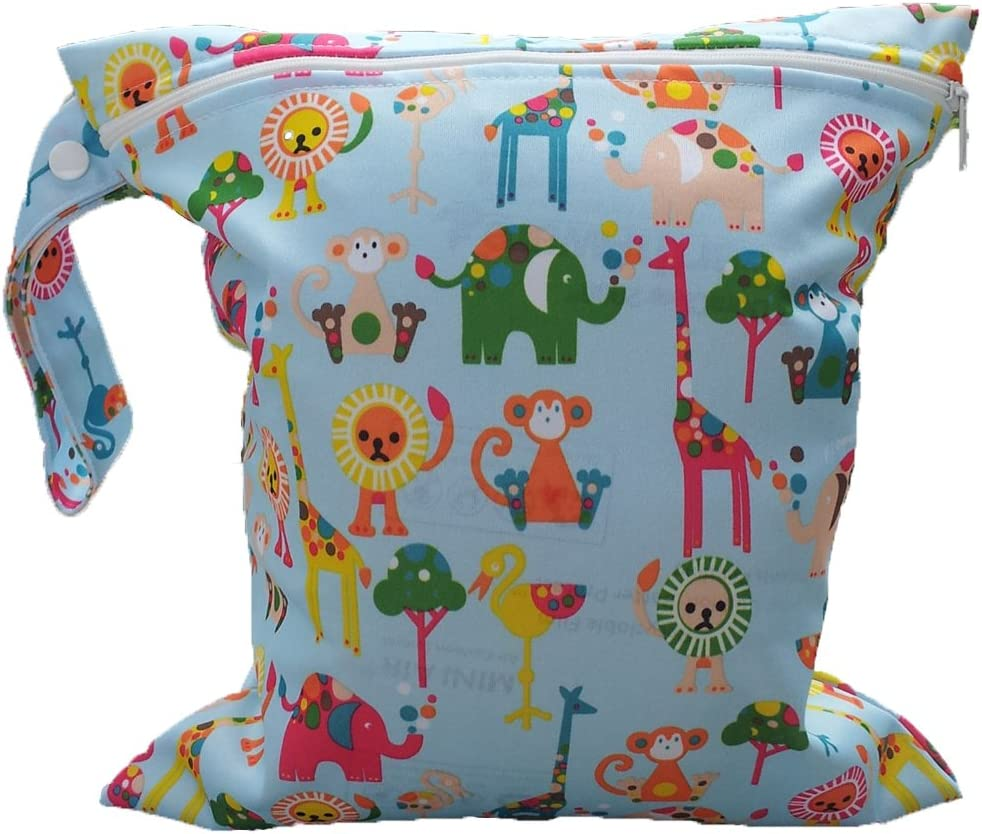 Reusable Baby Diaper Bag Waterproof Washable Baby Cloth Wet Bag Infant Nappy Changing Diaper Bag by TheBigThumb
