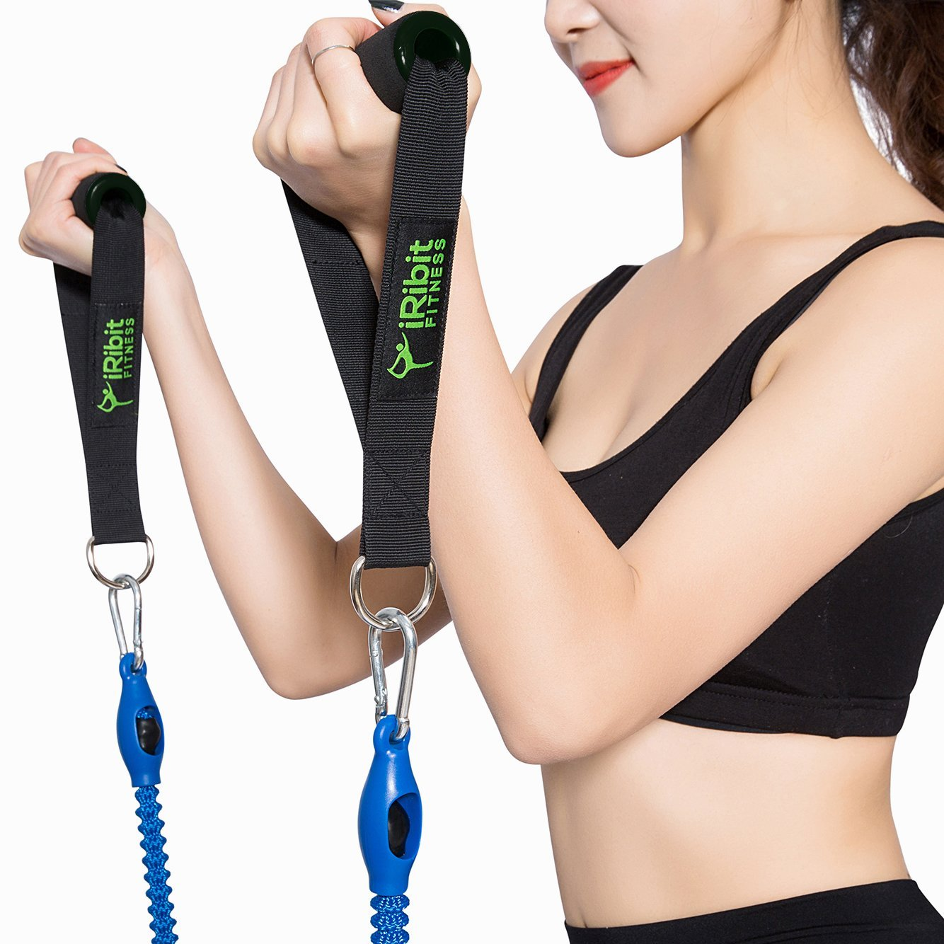 iRibit Fitness Quality Exercise Handles for Resistance Bands
