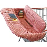 Shopping Cart Cover for Baby or Toddler | 2-in-1 High Chair Cover | Universal Fit | Includes Carry Bag | Machine…
