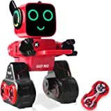 IHBUDS Programmable Remote Control Toy Robot for Kids,Touch & Sound Control, Speaks, Dance Moves, Plays Music. Built-in Coin Bank.Rechargeable RC Robot Kit for Boys, Girls All Ages-Red/Black