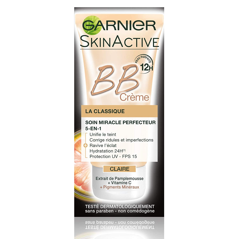 Garnier - SkinActive - BB Crème La Classique Medium - Soin Miracle perfecteur 5-en-1-Lot de 3 Garnier BB Crème 05C4836801