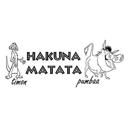 Wall Decals Quotes Hakuna Matata Quote Sign Words Kids ...