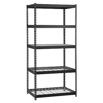 amazon com storage rack floor standing shelving unit w 5 rh amazon com floor standing corner shelves floor standing shelves ikea