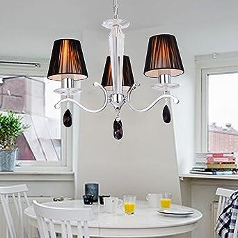 OOFAY LIGHT Moderne Kreative Eisen  Esszimmer Wohnzimmer Schlafzimmer  Kristallleuchter Mit 3 Lichtstoffschirm