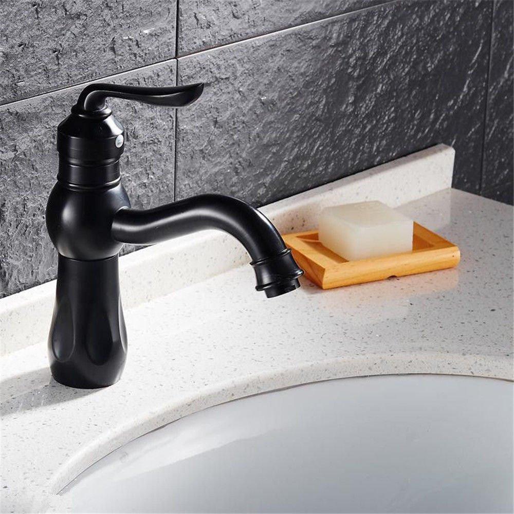 MEIBATH Waschtischarmatur Badezimmer Waschbecken Wasserhahn Küchenarmaturen Messing schwarz Öl eingerieben Bronze Antik Schwarz Küchen Wasserhahn Badarmatur