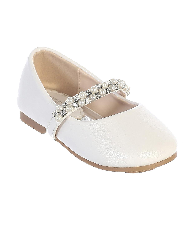 5d39596bb2dea iGirldress Infant Toddler Girls Straps Flower Girls Shoes (Size 1-8)