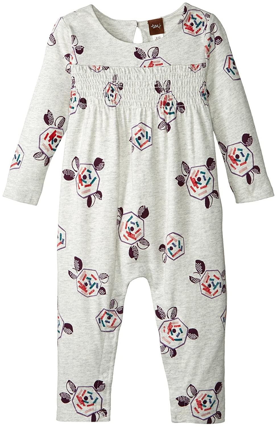 e283bd9d9d9a Amazon.com  Tea Collection Baby Girls  Omiya Smocked Romper  Clothing