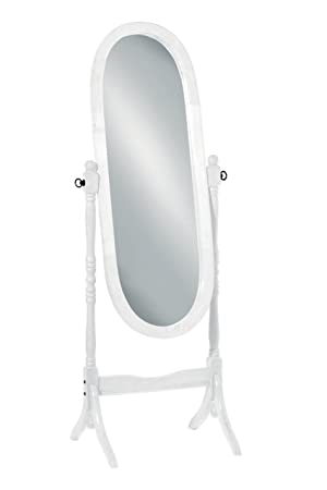 Premier Housewares 2400159 Miroir Psyché Ovale sur Pied Cadre Bois ...