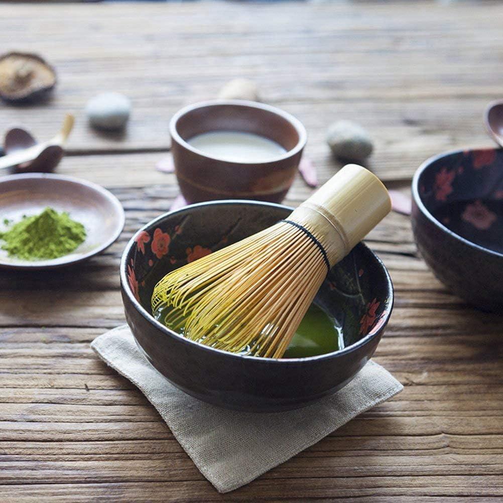 Kamenda Japanisches Matcha-Tee-Set Teezeremonie-Set 3 St/ück Matcha Bambus Schneebesen Teel/öffel