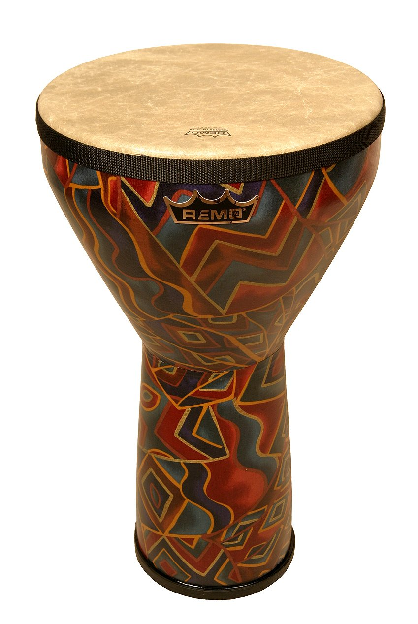 Remo Djembe, Festival, Large, 12'' Diameter, 21'' Height, Fabric Twinings