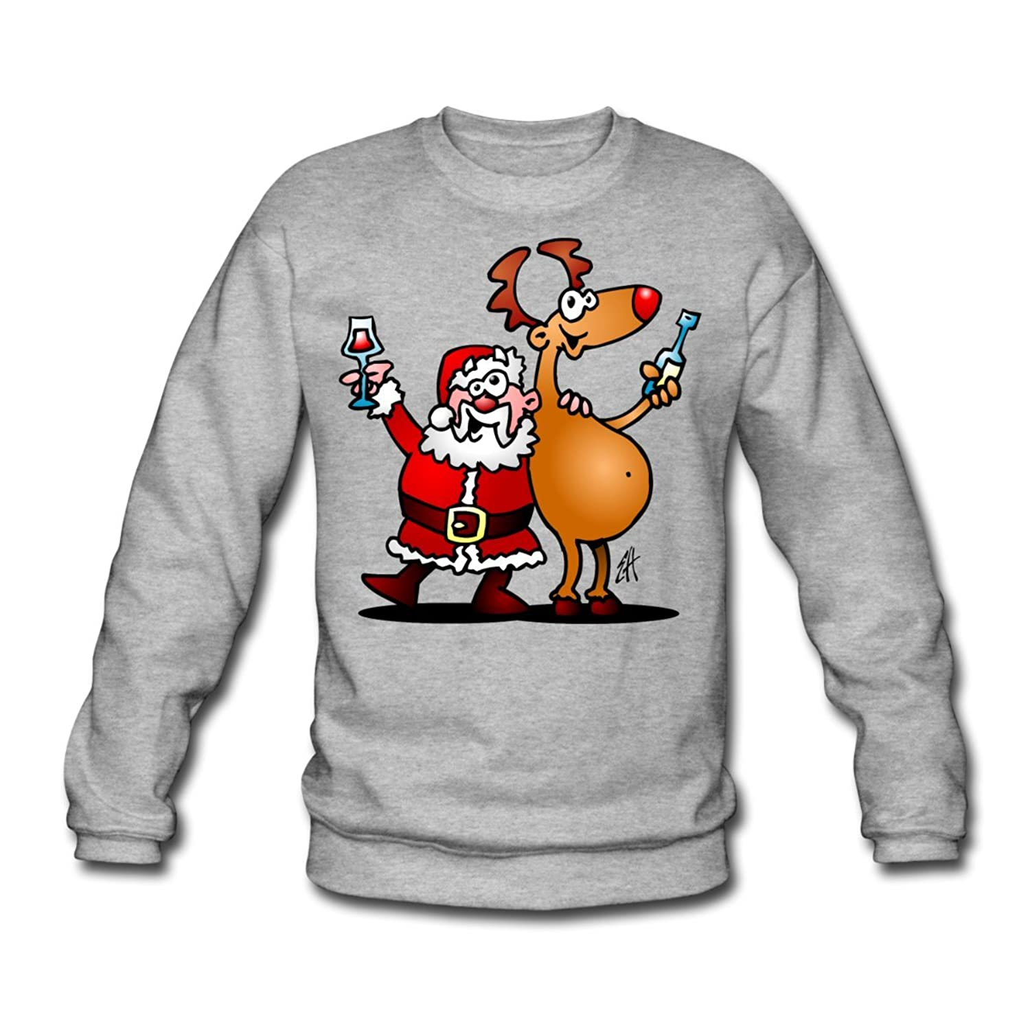 Santa Claus and his reindeer Men's Sweatshirt by Spreadshirt??