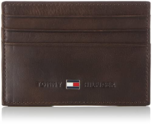 3b4a2d8c8 Tommy Hilfiger Johnson CC Holder, Tarjetero para Hombre, Brown 41, OneSize