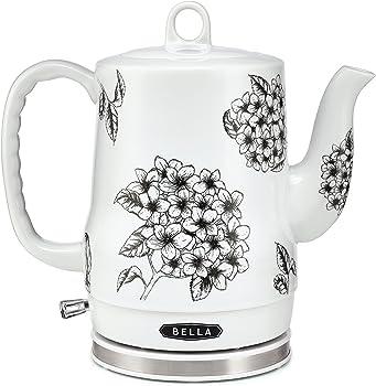 Bella 1.2 Liter Electric Ceramic Tea Kettle with Detachable Base
