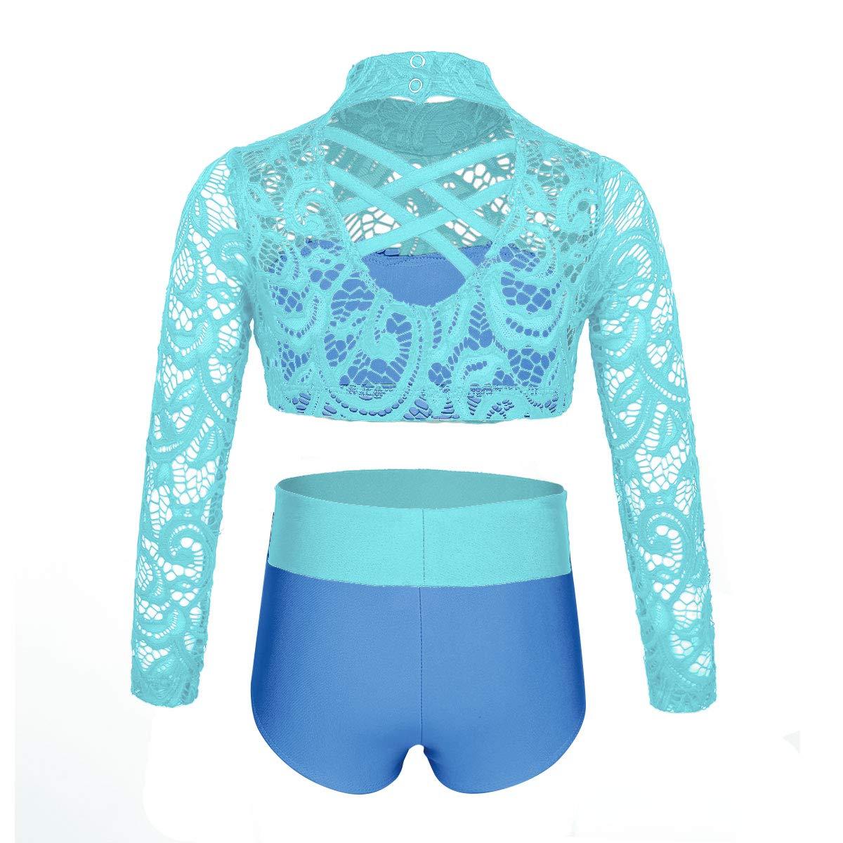 IEFIEL Traje de Bailarina para Ni/ña Danza Ropa de Gimnasia Ritmica Gym Deporte Conjunto Disfraz de Patinaje Artistico para Chicas 6-14 A/ños